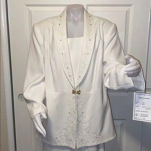 Katherine Bishop White Skirt Suit Set